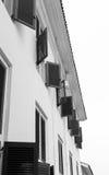 Windows на здании Стоковое фото RF