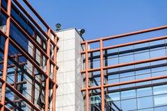 Windows офиса небоскреба, корпоративного здания Стоковое Изображение