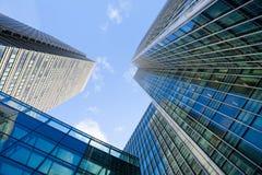 Windows офиса небоскреба, корпоративного здания в Lon Стоковое Фото