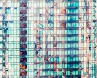Windows офисного здания небоскреба в Бангкоке, Таиланде Стоковая Фотография RF