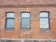 Windows старых домов в Storkow стоковые изображения rf
