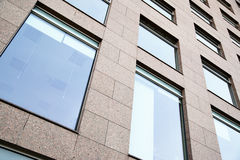 Windows. Of modern office building close up Stock Image