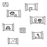 Windows royalty free illustration