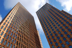 Windows. Two office buildings high in the sky Stock Images