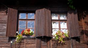 Windows. Of an old house,Sozopol Stock Image