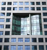 Windows. Archirectural element on a modern building Downtown Toronto Royalty Free Stock Photography