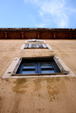 Windows. Old windows on the street Royalty Free Stock Photography