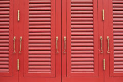 Windows. The red area of ​​the window to block classes and provide ventilation Stock Images