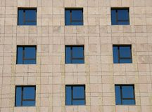 Windows. Glass windows in an office building stock photography
