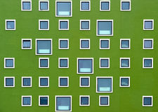 Windows. Freshly painted window facade in fresh color Royalty Free Stock Photography