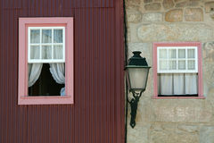 Windows. And lamp Stock Images