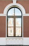 Windows. Different architecture elements in city buildings Royalty Free Stock Images