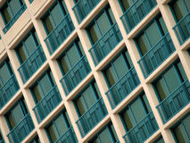Windows. From a tall building by a beach royalty free stock photo