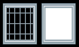 Windows. On black background - illustration Royalty Free Stock Photography