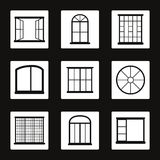 Windows royaltyfri illustrationer