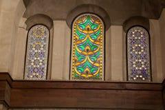 埃及清真寺Windows 免版税库存图片