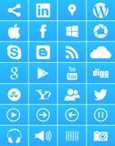 Windows 8 ícones sociais dos media Imagem de Stock Royalty Free
