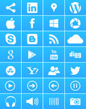 Windows 8 iconos sociales de los media Imagen de archivo libre de regalías
