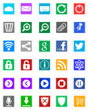 Windows 8 Icons - Metro Style Stock Images