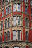 Windows. Corner of a building that's part of historiacal sites in Saint John, New Brunswick, Canada Stock Photo