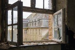 Windows of abandoned monastry. Abandoned monastry in Germany; St. Jozefsheim Stock Image