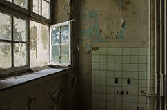 Windows of abandoned monastry. View from an abandoned monastry in Germany; St. Jozefsheim Stock Photography