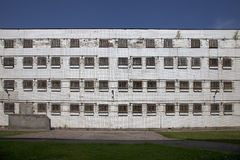 The windows of an abandoned prison Stock Photos