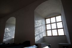 Windows ad un castello Fotografia Stock Libera da Diritti
