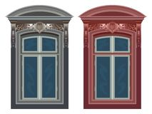 Windows against white Stock Photo