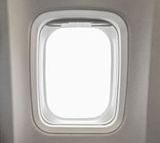 windows Airplane in cabin of huge aircraft stock photos