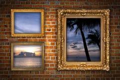 Windows al paraíso Imágenes de archivo libres de regalías