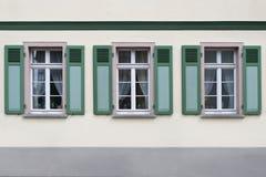 Windows alemán Foto de archivo libre de regalías