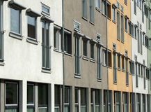 Windows along side of building Royalty Free Stock Photography