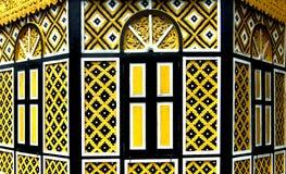 Windows amarillo decorativo Fotografía de archivo libre de regalías
