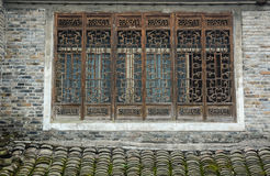 The windows of ancient house at Fenghuang town in Hunan, China Stock Photo