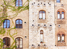Windows in ancient Tuscan houses Royalty Free Stock Photos