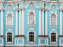 Windows And Columns On Facade Of St. Nicholas Naval Cathedral Royalty Free Stock Photography