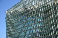 Windows angular moderno de Reykjavik, Islandia Imágenes de archivo libres de regalías