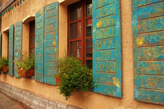 Windows of antique house Royalty Free Stock Image
