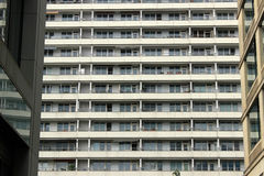 The windows. Of an apartment block in the center of Berlin Royalty Free Stock Photo