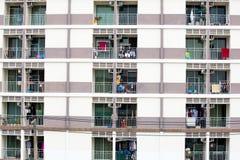 Windows of apartment Stock Photos