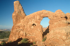 Windows Arch at Arches National Park, UT Royalty Free Stock Photo