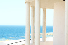 Windows arch with sea view Stock Images