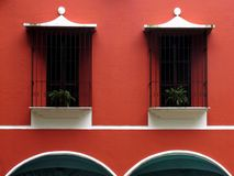Windows and arches. In a 5 star hotel in Guatemala Royalty Free Stock Photography
