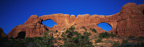 Windows Arches National Park, UT Royalty Free Stock Photo