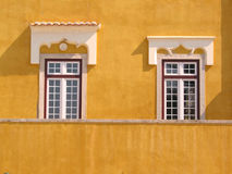 Windows Architecture. Place: Guia, Cascais, Portugal Old building architecture and project Royalty Free Stock Photos