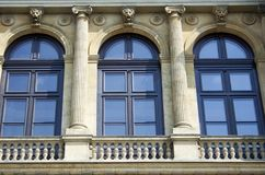 Windows with archways and colonnades, raw Stock Photography
