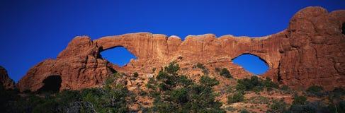 Windows arquea el parque nacional, UT Foto de archivo libre de regalías