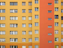 Windows array. Modular elevation, intensive orange colors Stock Photos