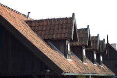 The windows in the attic Royalty Free Stock Photography